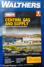 Walthers N #933-3213 Central Gas & Supply -- Kit (Plastic Kit)