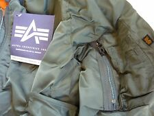 MADE IN USA MA-1 ALPHA INDUSTRIES USAF LARGE Pilot Bomber Flight Jacket Genuine