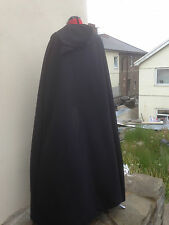 pointy hooded cloak black   more colours available