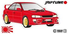Subaru WRX Impreza  V1 - Red with Gold Simmon Rims - JDM - JapTune Brand