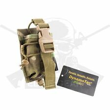 Dynamotac Rubic Fabric Nylon Molle Tactical MBITR Radio Walkie Pouch Multicam