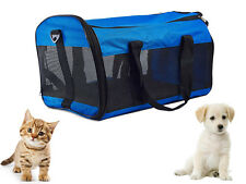 FOLDING PORTABLE PET PUPPY DOG CAT CARRIER FABRIC CANVAS CRATE TRAVEL MESH BAG