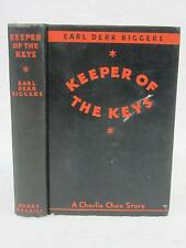 Earl Derr Biggers KEEPER OF THE KEYS 1932 Bobbs-Merrill, IN Charlie Chan 1stEd
