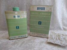 Vintage Avon Elite Powder Tin in the Box