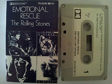 THE ROLLING STONES EMOTIONAL RESUCE RARE NZ RELEASE CASSETTE TAPE