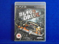 ps3 BLOOD DRIVE A Vehicular Combat Game MINT DISC Playstation PAL