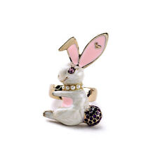 R221 Betsey Johnson Magic Jumping Bunny Rabbit w/ Tail Easter Gift Ring  US
