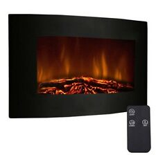 "New 35"" XL Large 1500w Adjustable Electric Wall Mount Fireplace Heater w/ Remote"