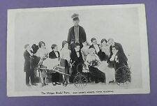 The Midget Bridal Party -John Lester's Midgets Blackpool - Original Postcard