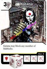 123 KATANA Soultaker Sword -Rare- JUSTICE LEAGUE - DC Dice Masters
