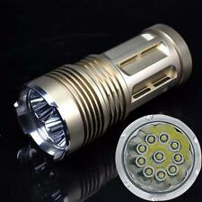 25000LM 10 x CREE XM-L T6 LED Flashlight Torch 4 x 18650 Hunting Lamp Bright 1