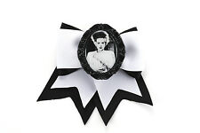 Bride of Frankenstein Horror Traditional Hair Bow Clip Project Pinup Rockabilly