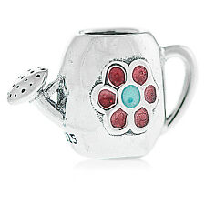Genuine Pandora Silver Blooming Watering Can Jug Charm Retired 791090EN43 Auth