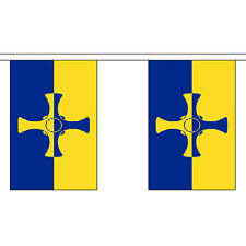 """Durham (County) New Bunting 3m Long With 10 Flags 9""""x6"""" English County"""