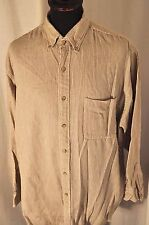 Abercrombie & Fitch grey striped flannel shirt size large western rockabilly