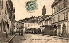 CPA Langoiran Une Rue-Passage du Train Bordeaux Cadillac (336589)