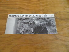 Vintage Pamphlet Map of Sycamore Canyon Wilderness Circa 1980