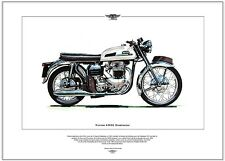 NORTON 650SS DOMINATOR - Motorcycle Fine Art Print - Featherbed frame motorbike