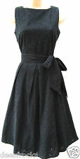SIZE 10 50's STYLE BRODERIE ANGLAIS FULL SKIRT DORIS DAY STYL DRESS # US 6 EU 38