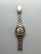 Vintage Seiko 6139b-7080 Chronograph Day-Date All SS Men's 17j mw Auto Watch