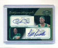 2008 Topps Co-Signers BILL RUSSELL PAUL PIERCE Dual AUTOGRAPH #3/5 RARE !!!