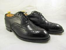Footjoy Classics Wingtips Oxfords Black Leather Dress Shoes Mens 10 EE Wide EUC