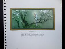 "Disney Artist Tyrus Wong Sample Xmas Greeting Card ""The Miracle"" Extraordinary!!"
