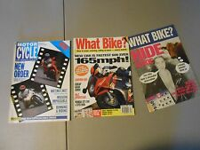LOT OF 2 MOTORCYCLES MAGAZINES,SEPT.1.1988 MOTORCYCLE INTERNATIONAL,FEB1995 WHAT