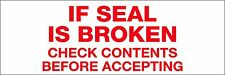 "Tape Logic Carton Sealing Tape ""If Seal Is Broken"" 2""W 55yd Red/White 18 Pack"