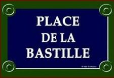 PLAQUE METAL DE RUE 30X20cm PARIS PLACE DE LA BASTILLE