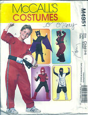McCall's Sewing Pattern M4951 Child's SZ 3-6 Super Hero Ninja Halloween Costume