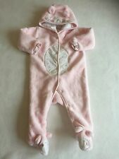 Baby Girls Clothes 3-6 Months- Pretty Girl Fleece Snowsuit Pramsuit All in One