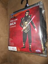 PLAY DRESS UP Skull Lord Ninja Costume - Size M (8) NEW