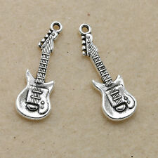35x Retro Style Tibet silver Delicate Guitar Alloy Charm Pendant Jewelry Finding