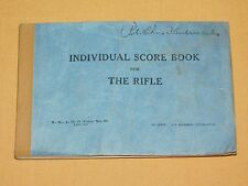 VINTAGE WWII GI SOLDIER 1941 INDIVIDUAL SCORE BOOK for THE RIFLE