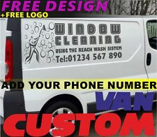 Window Cleaning Vehicle Sticker SILVER Sign Making Vinyl Graphics Decal Signs