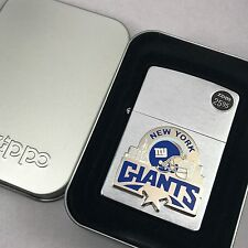 2003 Brushed Chrome Zippo Lighter - NFL - New York Giants - Football - NIB