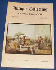 ANTIQUE COLLECTING OCTOBER 1984 - SUSIE COOPER/WOOD CARVINGS/SHIP MODELS