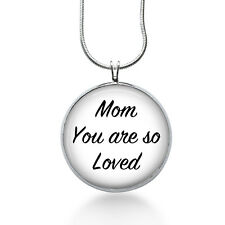 Mom Necklace, Mom Pendant, Mother Jewelry, love mom, christmas gifts for mom
