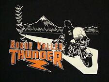 Rouge Valley Thunder Biking Biker Vacation Black T Shirt XL