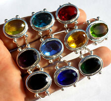 SHUBHAM JEWELRY MIX GEMS! WHOLESALE LOT 10PC 925 STERLING SILVER OVERLAY RING