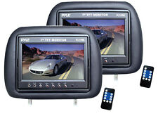 NEW Pyle PAIR PL71PHB Adjustable Headrest with Built-in 7'' TFT-LCD Monitors