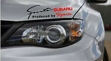 Amazing Headlight Eyebrow Car Stickers Decals Graphic Vinyl For Subaru (Black)