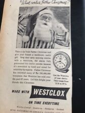 G2-1 Ephemera 1953 Advert Westclox What Wakes Father Christmas