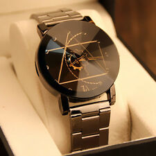 Fashion Watch Man's Stainless Steel Band Quartz nalog Wrist Watch Round case