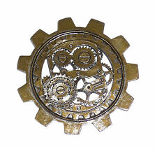 Women's Steampunk Novelty Large Bronze Gear Brooch Men Adult Costume Jewelry