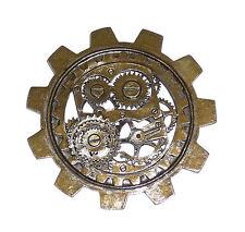 Women's Steampunk Novelty Large Bronze Gear Brooch Men Adult Costume Jewelry