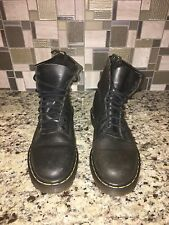 Dr. Martens Doc 1460 AW004 Black Leather Boots Unisex UK 5 US 7 Air Wair