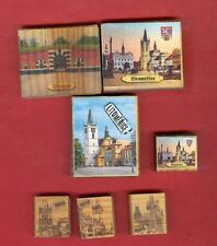 7 WOODEN SAFETY MATCHES # PRAGUE – LITOMERICE - THERESIENSTADT # CZECH REPUBLIC