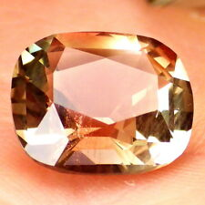 GOLD GREEN-COPPER PEACHY SCHILLER OREGON SUNSTONE 3.39Ct FLAWLESS-FOR JEWELRY!